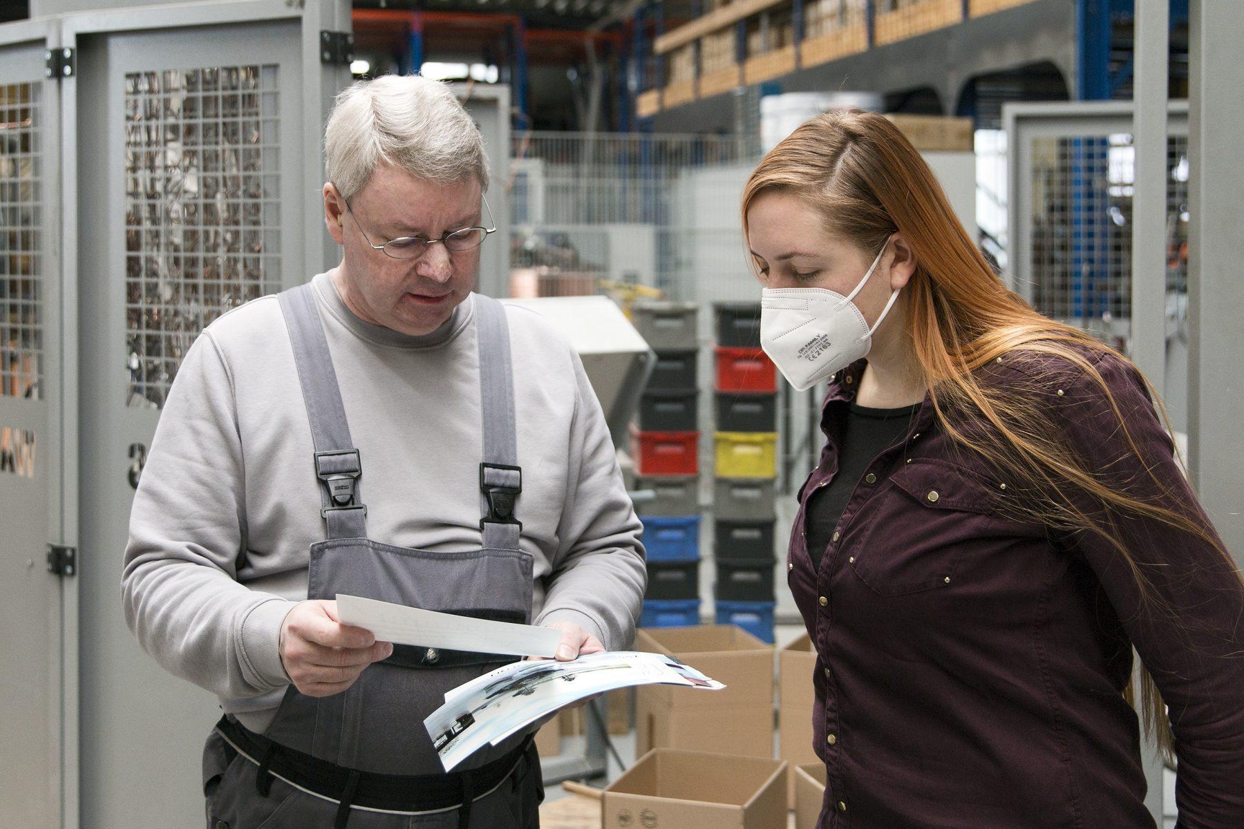 Henrike Cohrs und Thomas Filter (Filter und Kulgemeyer GmbH & Co. KG) Photo: Jean-Michel Tapp