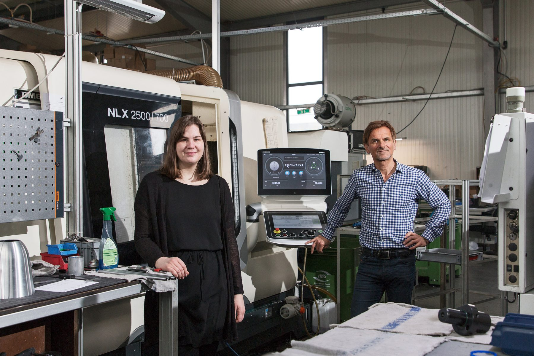Nadia Scheuren und Ingolf Schley (Mea-proTecc GmbH) Photo: Jean-Michel Tapp